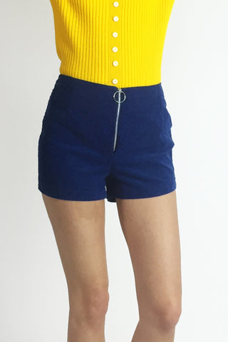 Blueberry Royale 1970's Deadstock Corduroy Hot Pants