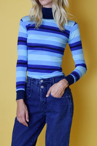 Little Dume Daydream 1970's Deadstock Striped Turtleneck