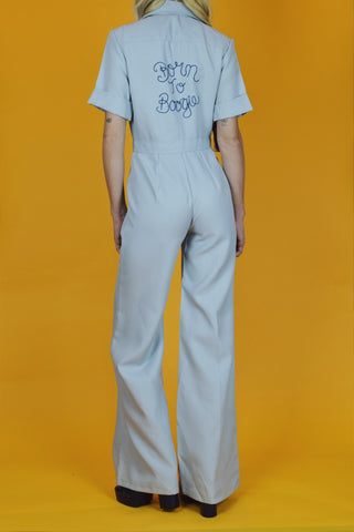 Born To Boogie 1970's Hand-Embroidered Jumpsuit