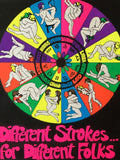 Different Strokes 1970's Astrology Blacklight Poster