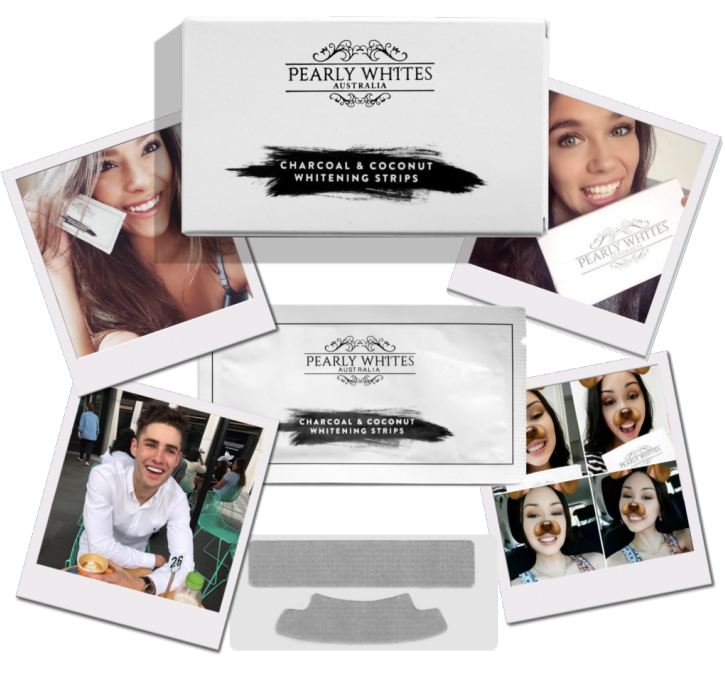 Coconut & Charcoal Teeth Whitening Strips