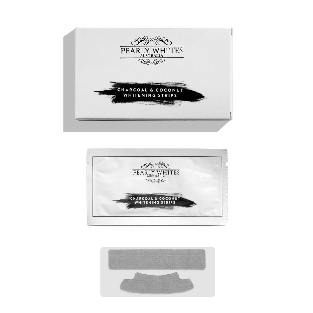 Charcoal & Coconut Whitening Strips from Pearly Whites Australia