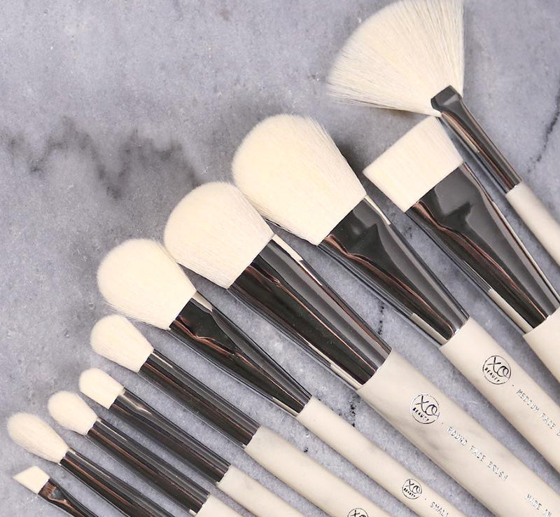 XOBEAUTY 10 PIECE MARBLE BRUSH SET Glam Raider
