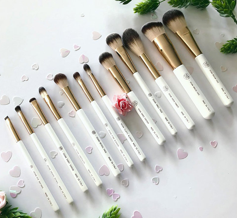12 PIECE VEGAN ROSE GOLD BRUSH SET 2.0