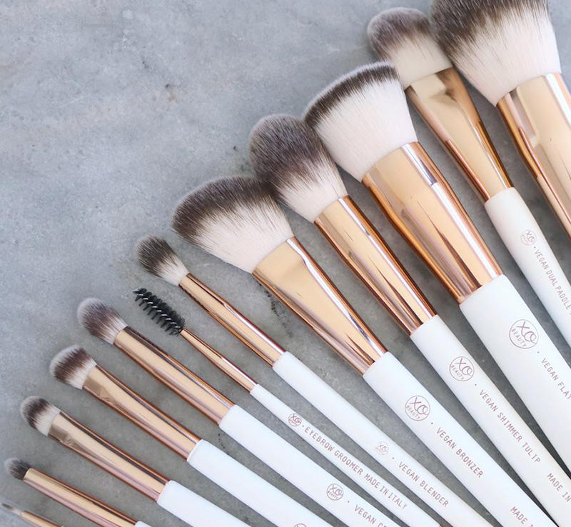 XOBEAUTY 12 PIECE VEGAN ROSE GOLD BRUSH SET Glam Raider