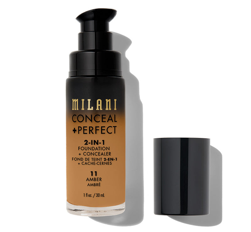 MILANI CONCEAL + PERFECT 2-IN-1 FOUNDATION - AMBER Glam Raider