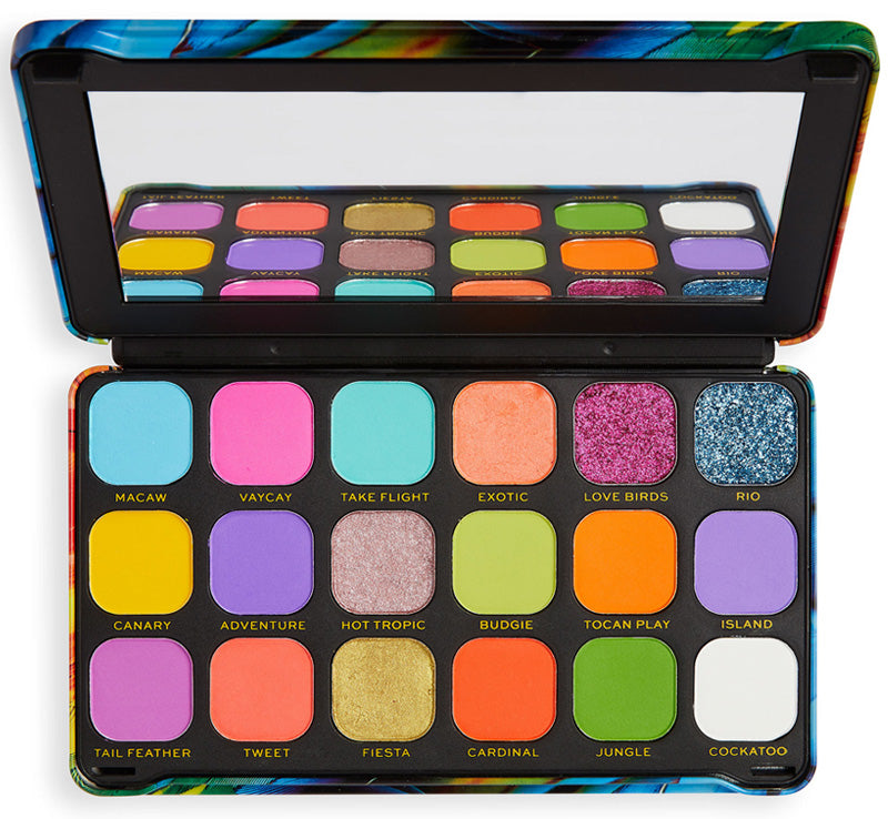 MAKEUP REVOLUTION FOREVER FLAWLESS BIRD OF PARADISE PALETTE Glam Raider