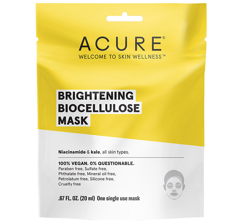 ACURE BRILLIANTLY BRIGHTENING BIOCELLULOSE MASK Glam Raider