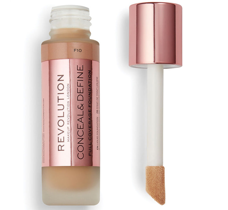 MAKEUP REVOLUTION CONCEAL AND DEFINE FOUNDATION - F10 Glam Raider