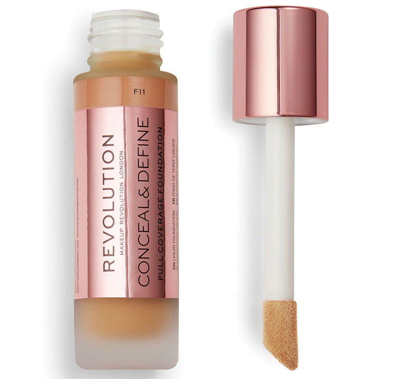 MAKEUP REVOLUTION CONCEAL AND DEFINE FOUNDATION - F11 Glam Raider