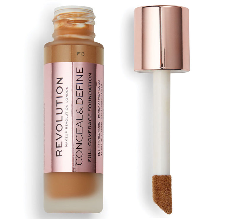 MAKEUP REVOLUTION CONCEAL AND DEFINE FOUNDATION - F13 Glam Raider