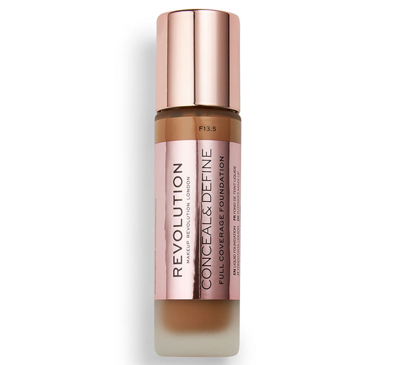 MAKEUP REVOLUTION CONCEAL AND DEFINE FOUNDATION - F13.5 Glam Raider