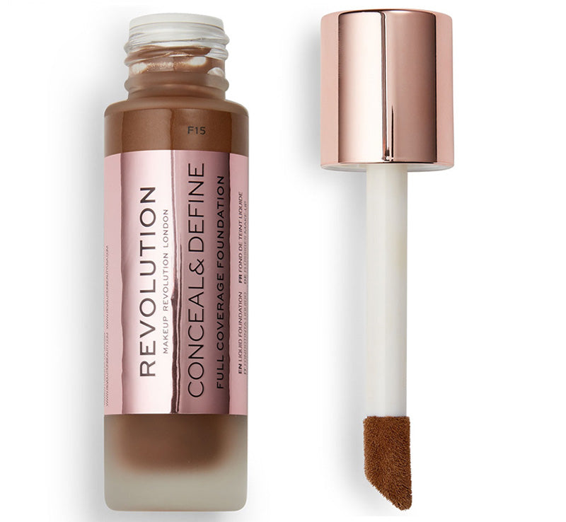 MAKEUP REVOLUTION CONCEAL AND DEFINE FOUNDATION - F15 Glam Raider