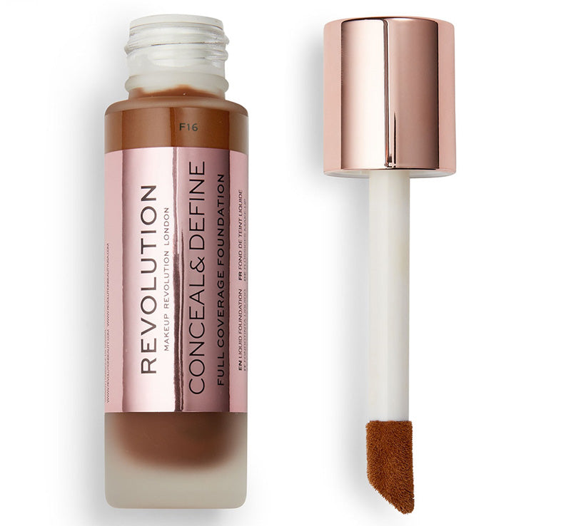 MAKEUP REVOLUTION CONCEAL AND DEFINE FOUNDATION - F16 Glam Raider