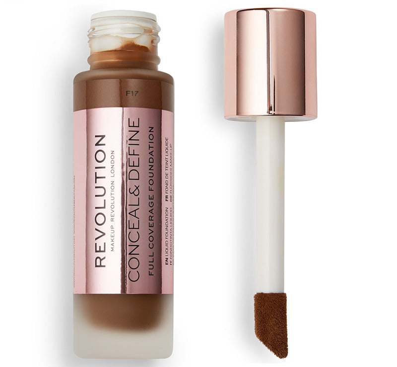 MAKEUP REVOLUTION CONCEAL AND DEFINE FOUNDATION - F17 Glam Raider