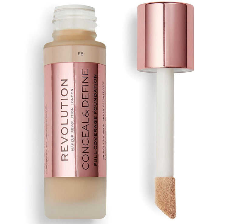 MAKEUP REVOLUTION CONCEAL AND DEFINE FOUNDATION - F8 Glam Raider