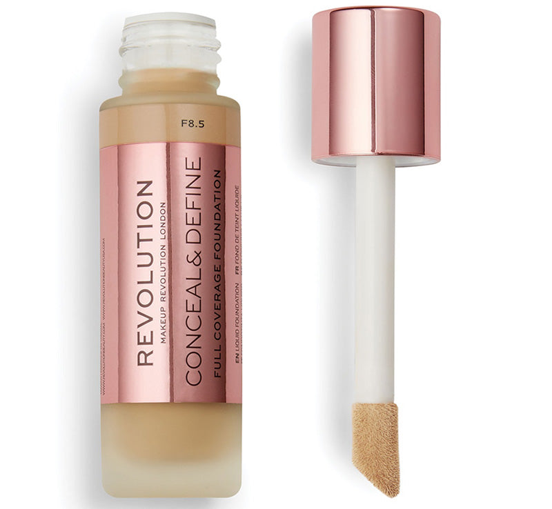 MAKEUP REVOLUTION CONCEAL AND DEFINE FOUNDATION - F8.5 Glam Raider