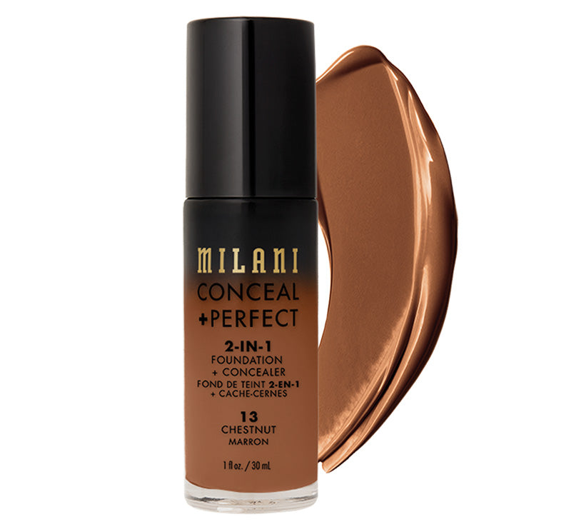 MILANI CONCEAL + PERFECT 2-IN-1 FOUNDATION - CHESTNUT Glam Raider