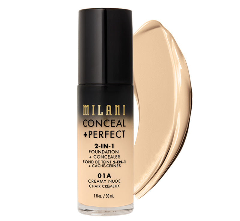 MILANI CONCEAL + PERFECT 2-IN-1 FOUNDATION - CREAMY NUDE Glam Raider