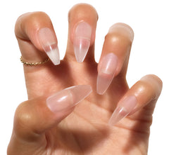 CRYSTAL CLEAR PRESS-ON ACRYLIC NAILS