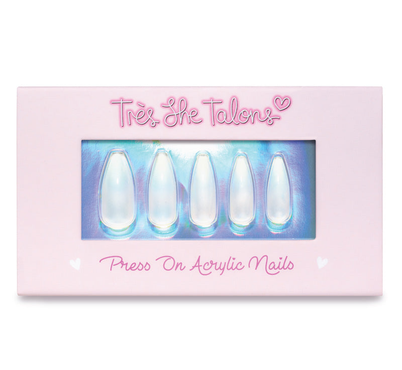 TRÈS SHE TALONS CRYSTAL CLEAR PRESS-ON ACRYLIC NAILS Glam Raider