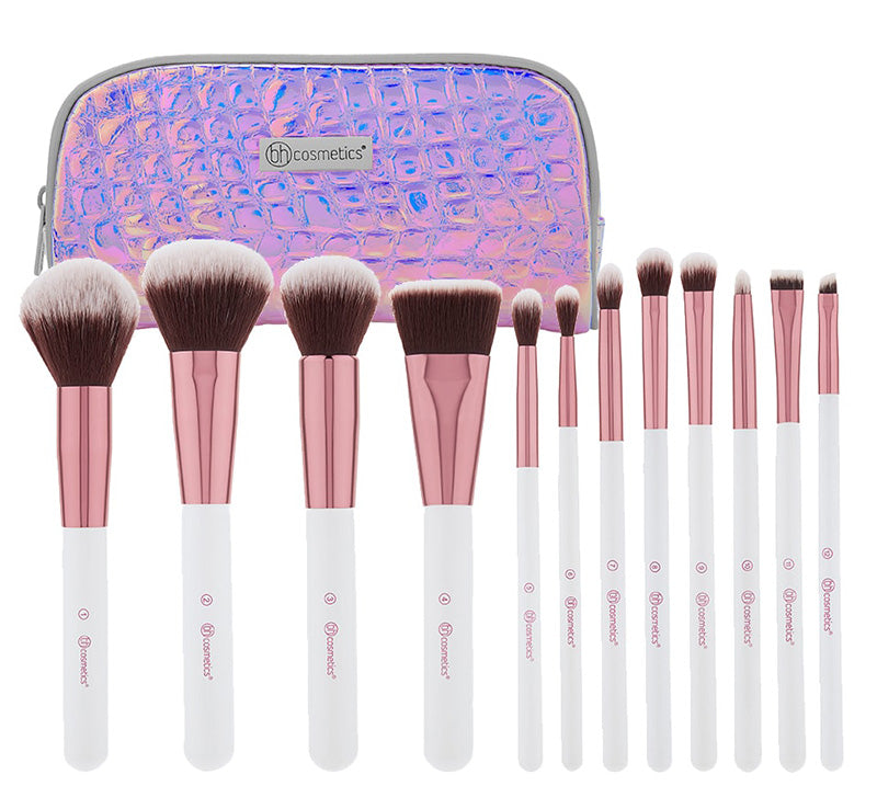 CRYSTAL QUARTZ 12 PIECE BRUSH SET + CASE