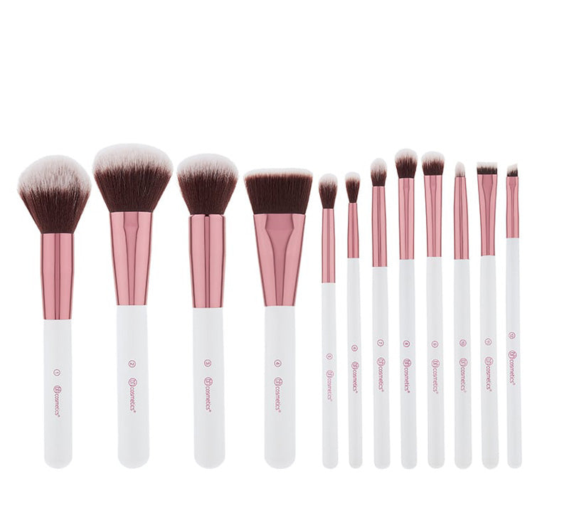 2285dbda4030e BH Cosmetics Crystral Quartz Brush Set   Cosmetic Bag