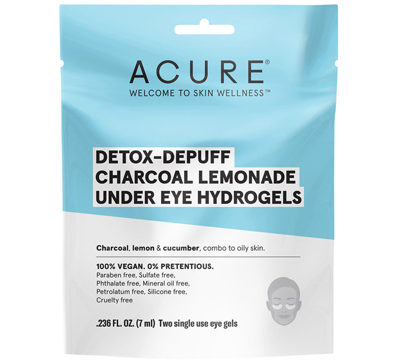 ACURE DETOX-DEPUFF CHARCOAL LEMONADE UNDER EYE HYDROGELS Glam Raider