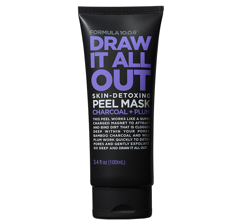 FORMULA 10.0.6 DRAW IT ALL OUT SKIN DETOXING CHARCOAL PEEL MASK Glam Raider