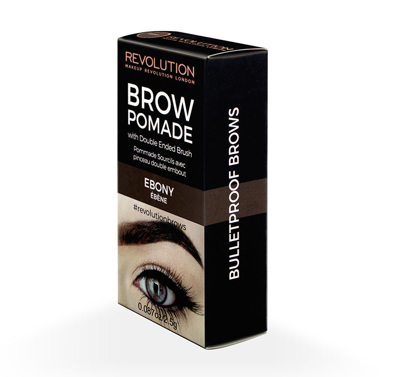 MAKEUP REVOLUTION BROW POMADE - EBONY Glam Raider