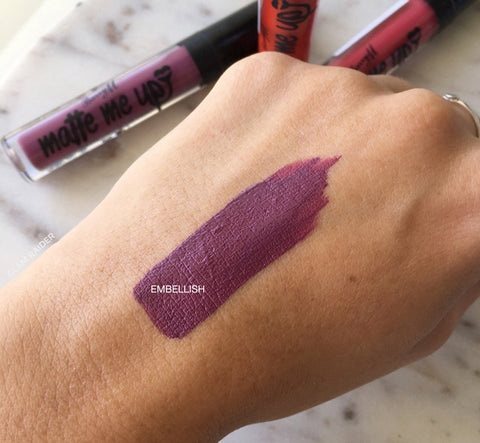 Embellish Matte Liquid Lipstick by Barry M