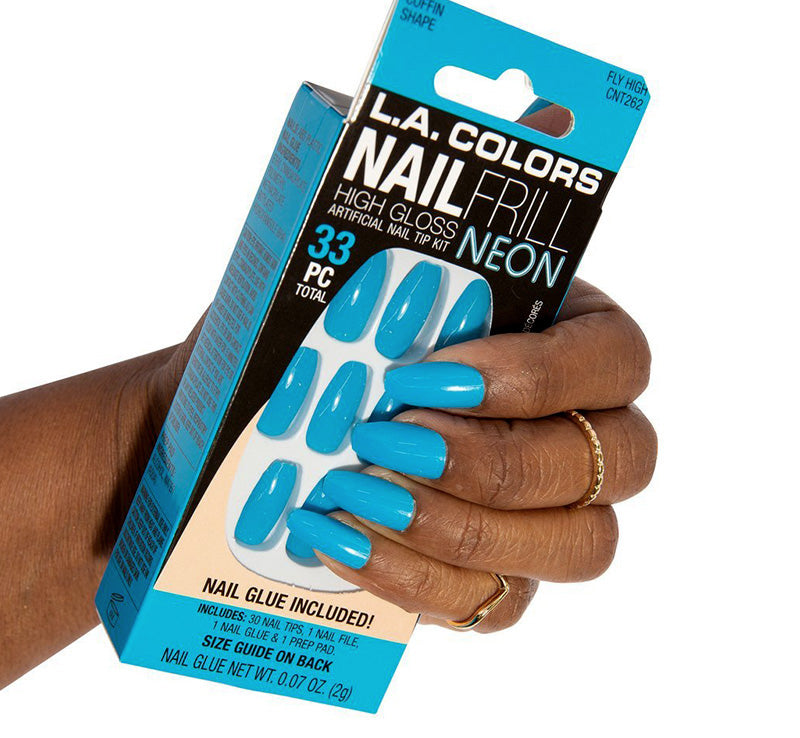 LA COLORS FLY HIGH NEON NAILS Glam Raider