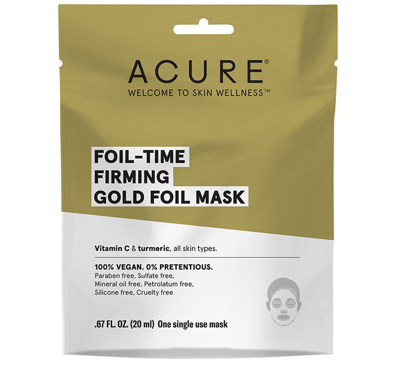 ACURE FOIL-TIME FIRMING GOLD FOIL MASK Glam Raider