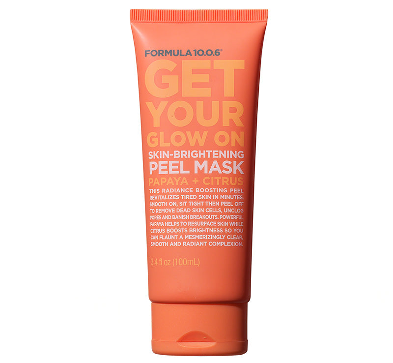 FORMULA 10.0.6 GET YOUR GLOW ON BRIGHTENING PEEL OFF MASK Glam Raider