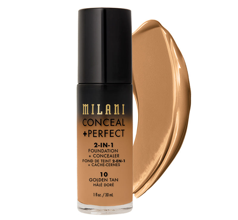 MILANI CONCEAL + PERFECT 2-IN-1 FOUNDATION - GOLDEN TAN Glam Raider