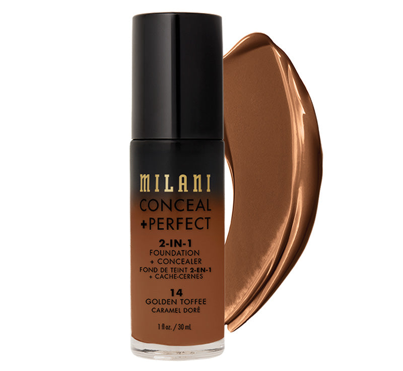 MILANI CONCEAL + PERFECT 2-IN-1 FOUNDATION - GOLDEN TOFFEE Glam Raider