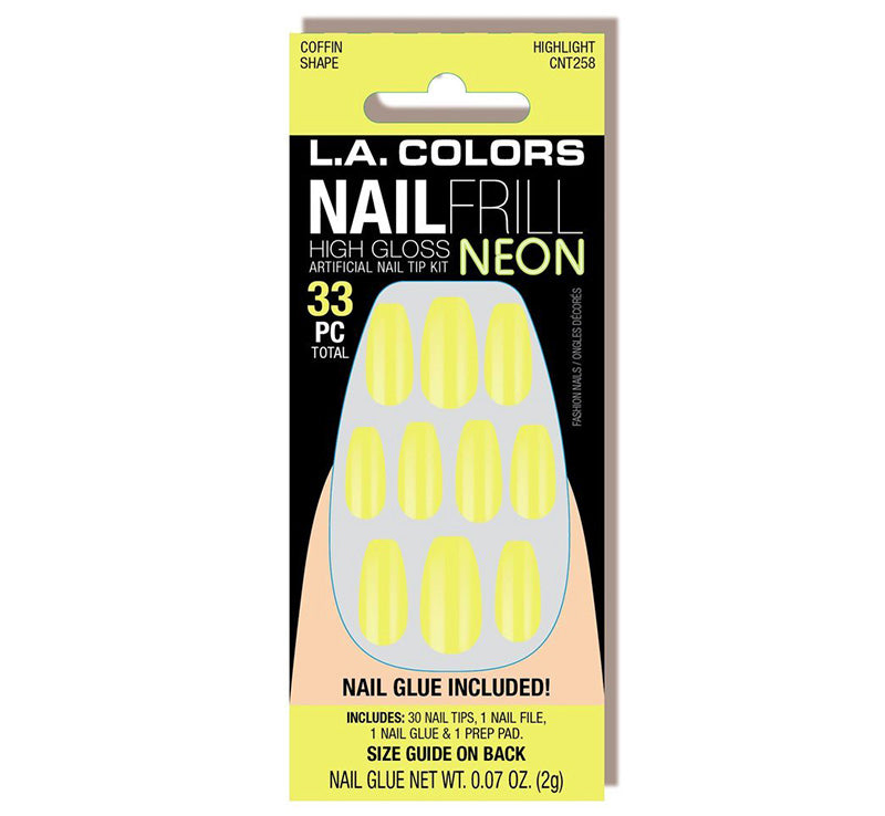 LA COLORS HIGHLIGHT NEON NAILS Glam Raider