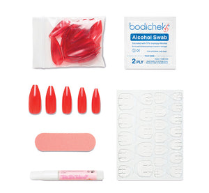 HOT LIPS PRESS-ON ACRYLIC NAILS