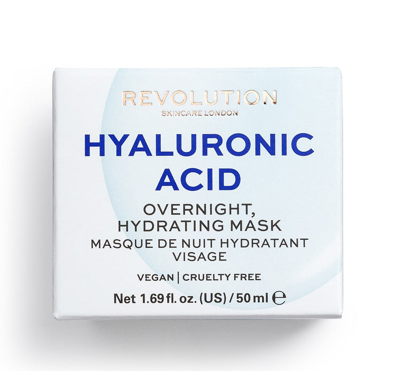 REVOLUTION SKINCARE HYALURONIC ACID OVERNIGHT HYDRATING MASK Glam Raider