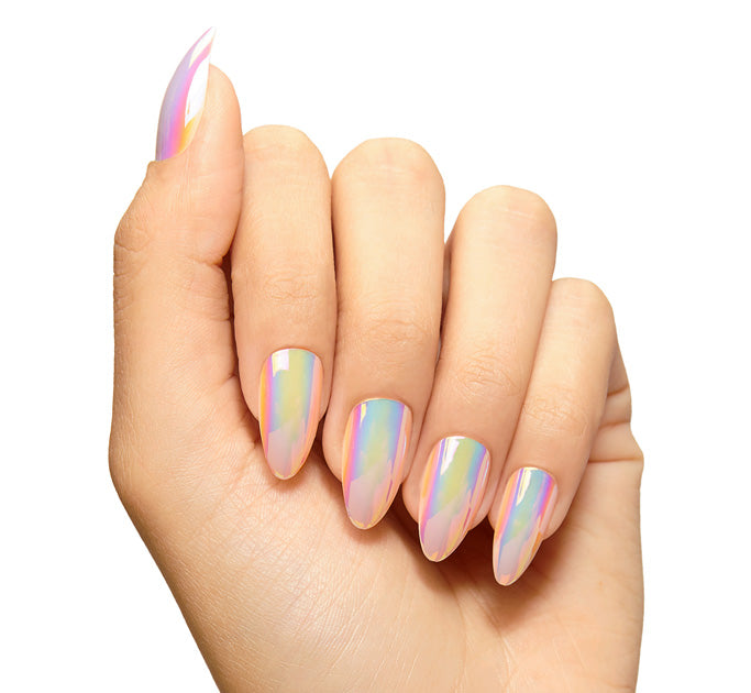 IRIDESCENT PRESS-ON NAILS