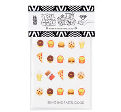 Junk Food Emoji Nail Decals