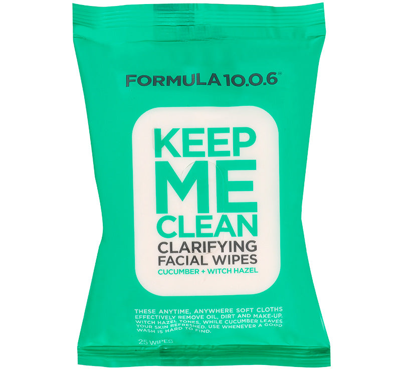 FORMULA 10.0.6 KEEP ME CLEAN CLARIFYING FACIAL WIPES Glam Raider