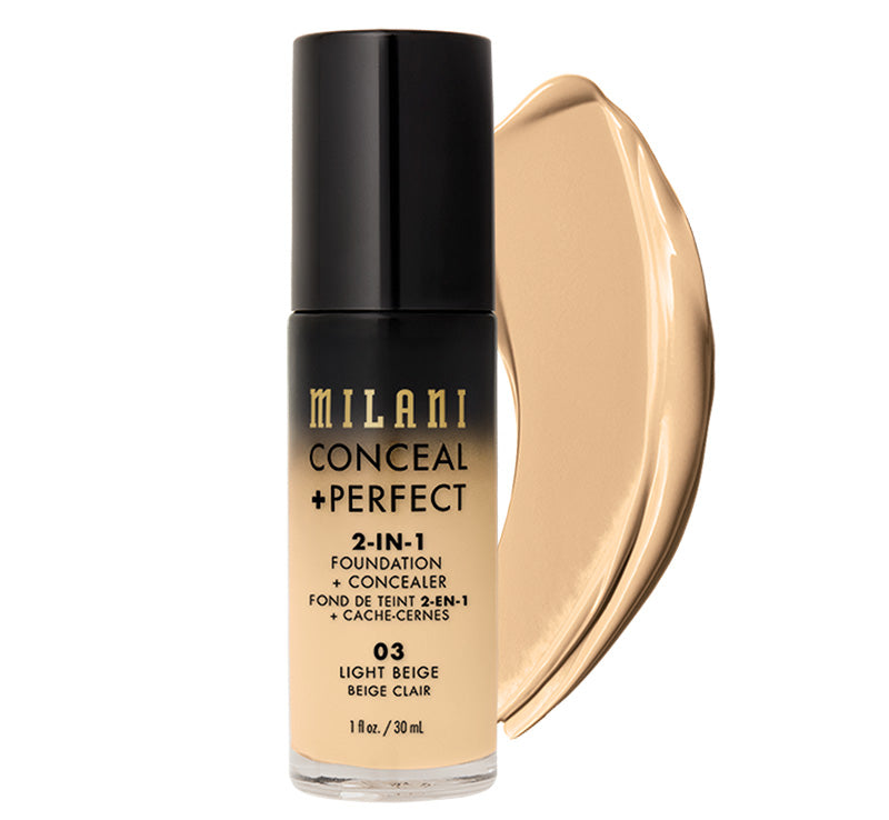 MILANI CONCEAL + PERFECT 2-IN-1 FOUNDATION - LIGHT BEIGE Glam Raider