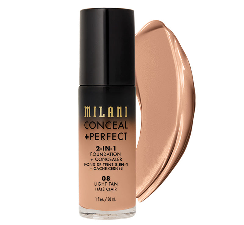 MILANI CONCEAL + PERFECT 2-IN-1 FOUNDATION - LIGHT TAN Glam Raider