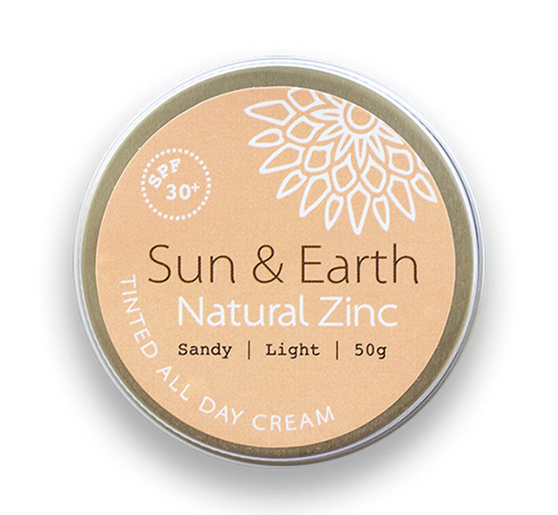 SUN & EARTH NATURAL ZINC TINTED ALL DAY CREAM SPF30 - SANDY LIGHT Glam Raider