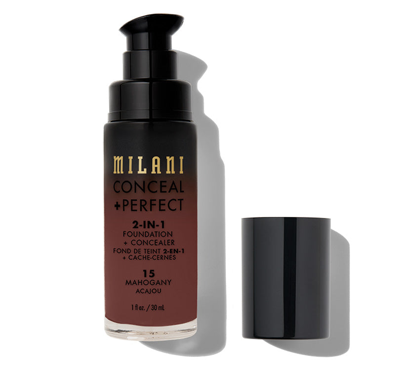 MILANI CONCEAL + PERFECT 2-IN-1 FOUNDATION - MAHOGANY Glam Raider