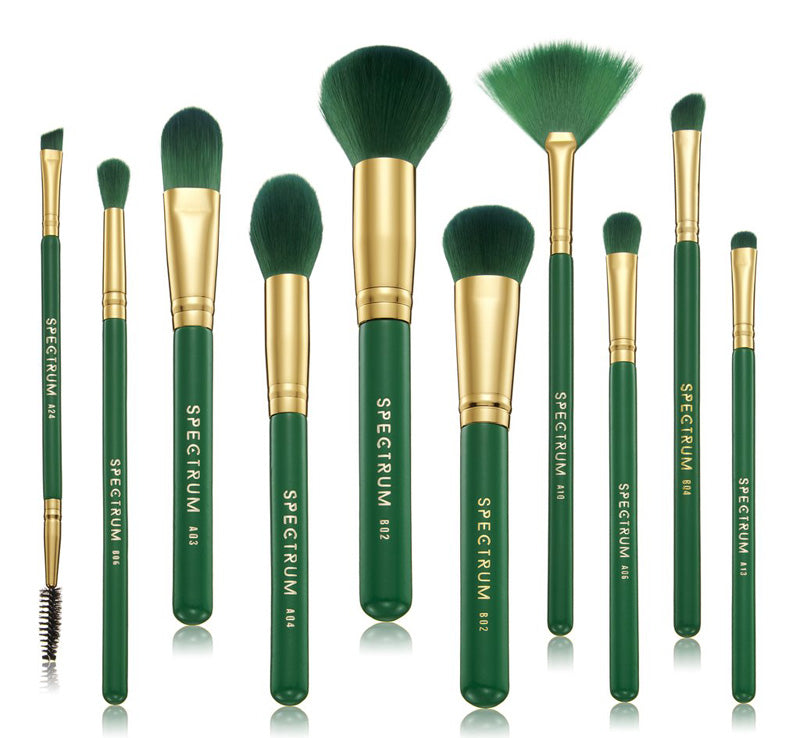 MALACHITE 10 PIECE BRUSH SET
