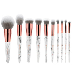 MARBLE LUXE 10 PIECE BRUSH SET