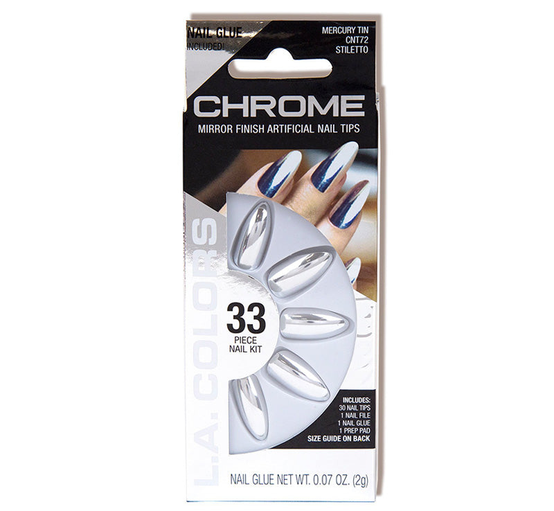 LA COLORS MERCURY TIN CHROME NAILS Glam Raider