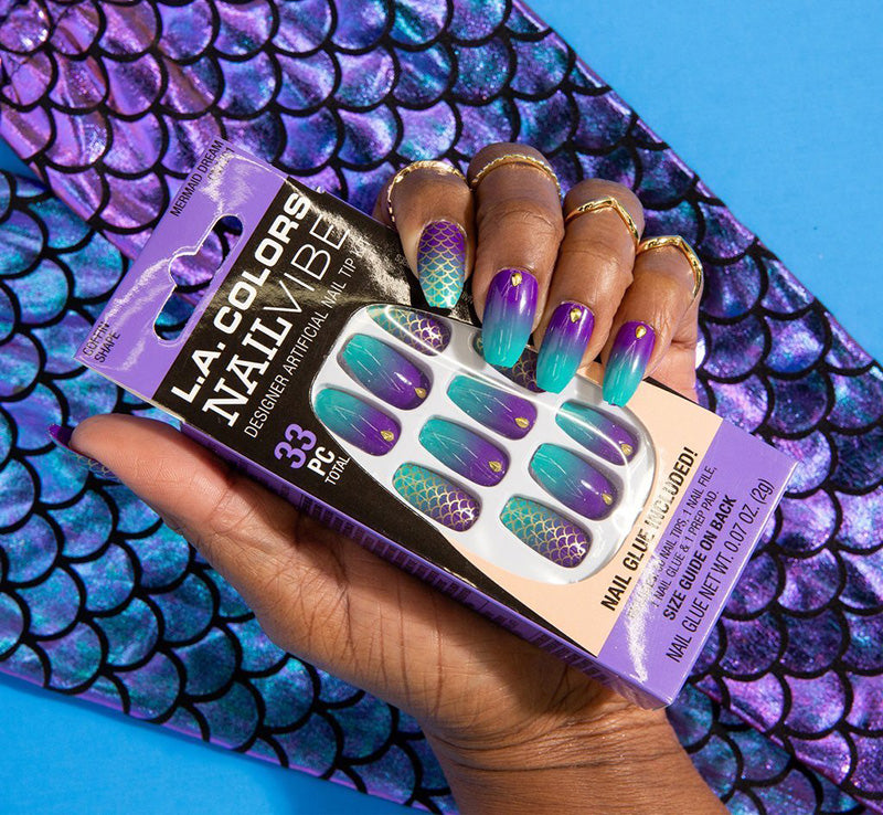 LA COLORS MERMAID DREAM NAILS Glam Raider